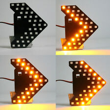 1 Pc Yellow 33SMD LED Arrow Panel Rear View Mirror Turn Signal Indicator Lights