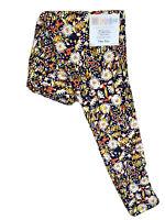 LuLaRoe OS Leggings #3386 - Flowers on Navy Blue - One Size
