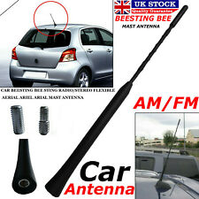 UNIVERSAL BLACK BEE STING SHORT STUBBY AM//FM CAR AERIAL MAST ANTENNA ARIAL BEE1