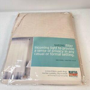 martha stewart everyday sheer curtain panel white 60x84 NWTs classic