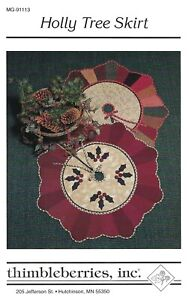 HOLLY TREE SKIRT Pattern -Thimbleberries Quilting Christmas Holiday UNCUT OOP