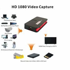 Full HD 1080p 60fps Game Capture Box record PlayStation PS4 Xbox One Xbox 360