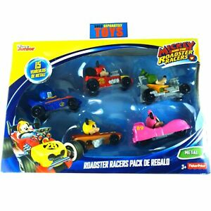 Mickey And The Roadster Racers 5 PACK gift set Disney diecast metal cars