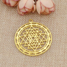 1Pc Sri Yantra Sacred Geometry Pendant DIY Necklace Prosperity Mandala Talisman