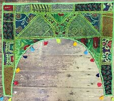 Verde Indiano wallhanging Arazzo Porta TORAN Patchwork Boho nappe