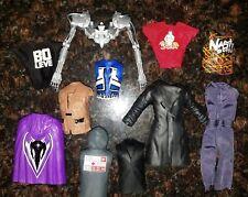 WWE ELITE ACCESSORY MATTEL LOT of 11 Wrestling Figure Shirts Entrance Gear