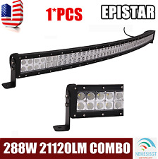 50inch 288W Curved Epistar LED Work Light Bar Combo Offroad Driving SUV 300W 4X4