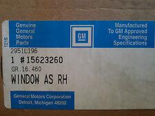 NOS  GM 15623260 BRAVADA JIMMY BLAZER S10 1991 92 RIGHT REAR VENT GLASS DV07753Y