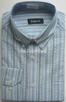 Mens Pure Cotton Office Business Work Long Sleeve Shirt Regular or Button Down