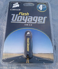 FLASH VOYAGER CORSAIR 4GB 4 GB USB 2.0 USB FLASH DRIVE SHOCKPROOF