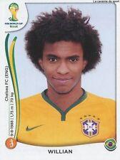 N°046 WILLIAN # BRASIL STICKER PANINI WORLD CUP BRAZIL 2014