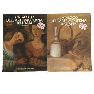 catalogo dell'arte moderna italiana bolaffi numeri 18 e 19 anni 80 g mondadori
