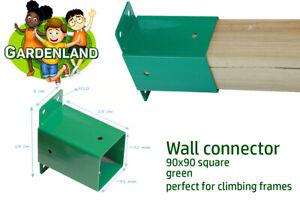 WALL CONNECTOR SQUARE BEAM BRACKET 90x90mm climbing frames GREEN