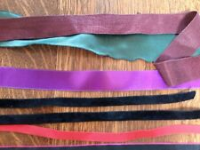 Antique vintage ribbons-silk, grograin, velvet, and other