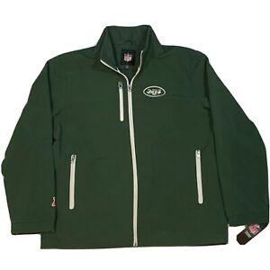New York Jets NFL Pro Line Green Soft Shell Jacket Zip Up Mens Sz L Football New