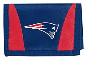 New England Patriots Football League Licensed Nylon Tri-Fold Chamber Wallet