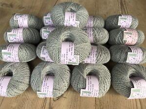 Alpaca Wool -  Light Grey Colour 100g DK