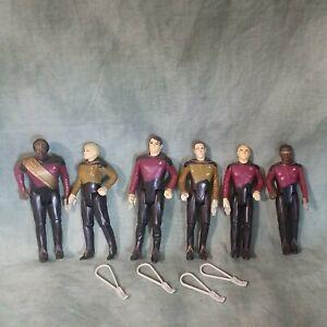 Lot of 6 Star Trek Next Gen action figure w/tricorders Loose