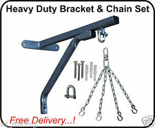 Heavy Duty Strong Punch Bag Wall Bracket and 4 Chains Steel Mount Hanging Stand