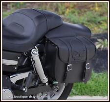 Borsa Laterale IN Cuoio Teschio Cranio - Moto Harley Shadow Sportster VN