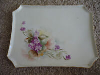 VINTAGE LIMOGES WG & CO. HAND PAINTED SERVING TRAY/ EARLY 1900'S