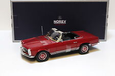 1:18 Norev Mercedes 280SL Cabrio W113 Pagode red NEW bei PREMIUM-MODELCARS