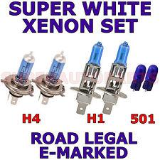 POUR FIAT PANDA 2004-2005 SET H4 H1 501 XÉNON SUPER BLANC AMPOULES PHARE