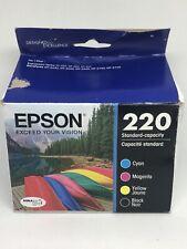 Epson 220 Ink Cartridges DURABrite Ultra - Black/Magenta/Yellow-MISSING CYAN INK