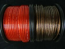 25 FT 8 GAUGE SPEAKER WIRE RED BLACK CABLE AWG STEREO CAR HOME MONSTER SUBS