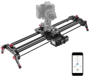 Neewer Camera Slider Motorized, 31inch APP Control Carbon Fiber Track Dolly Rail
