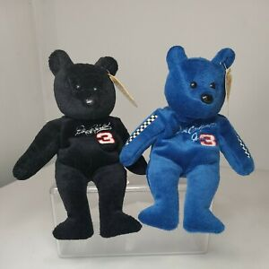 Set - 2 Plush Toy Bears Dale Earnhardt & Dale Earnhardt Jr 23 Karat Gold'n Bears