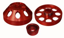 Lightwt Water Pump/Crank/Alternator Pulley Combo Red Fits Genesis Coupe 3.8 10+