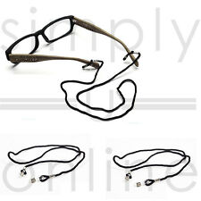 Black Neck Cord Strap String Chain Holder Sunglasses Reading glasses Spectacles
