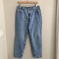 """VTG Levi's 550 High Waist Relaxed Fit Tapered Leg Mom Jeans size 14 / 33"""" USA"""