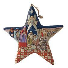 Jim Shore Heartwood Creek Nativity Star Stone Resin Hanging Ornament, 5�