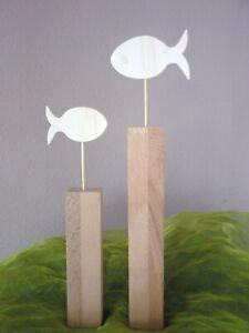 Fisch Dekoration Kommunion Konfirmation Sperr/Buchenholz Holzfisch XXL Set Taufe
