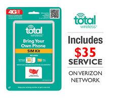 Total Wireless Triple SIM CARD Includes $35 5GB 4G LTE Unlimited Verizon Free