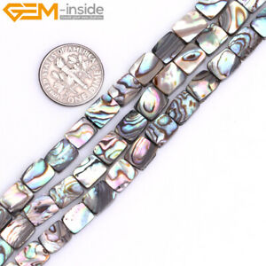 Rainbow Abalone Shell Beads Natural Gemstone Rectangle Beads For Jewelry Making