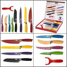 Kitchen Knife Big Set Stainless Steel Knives Multi Colored Ceramic with Gift Box