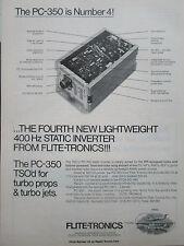 2/1980 PUB FLITE-TRONICS TSO PC-350 STATIC INVERTER TURBO PROPS JETS ORIGINAL AD