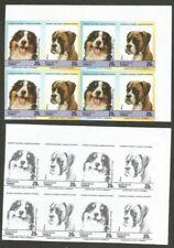Tuvalu 1985 Dogs 50c progressive proofs in 5 blocks of 4 pairs (40)