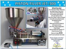 Piston Filler Single Head A/O JET-300-Perfume Non-Flammable Fills Liquid, Paste