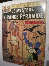"BD ANCIENNE BLACK & MORTIMER ""LE MYSTERE DE LA GRANDE PYRAMIDE""n°1 COPIE 1972"