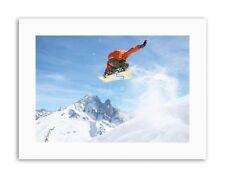 Fotografía de movimiento de disparo snowboard Salto de aire fotografía Póster Imagen Sport
