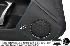 BLUE STICH 2X DOOR SPEAKER TRIM LEATHER COVER FOR TOYOTA GT86 SUBARU BRZ 12-16