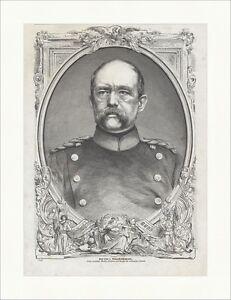 Graf Otto von Bismarck-Schönhausen Deutsches Reich Kanzler Holzstich E 18068