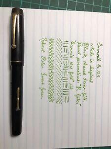 Black Summit S.125 Fountain Pen - WORKING: New Sac. 14ct Nib