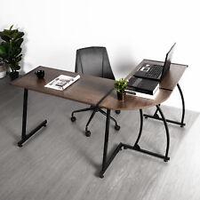 Eggree Corner L-shaped Workstation Computer Desk - Home Office Study Workspace