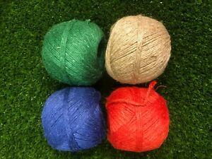 Macrame Linen cord coloured x 3 bobbins in Biodegradable Natural fibre