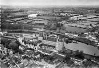Carte SOLESMES Vue aérienne L'Abbaye St Pierre sur les bords de la Sarthe